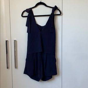 Navy Blue Romper from HM